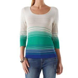 White HouseBlack Market Teal Pearl Dust Sweater XL